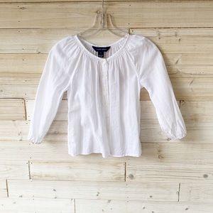 Ralph Lauren Cream Blouse Girls Size 5.